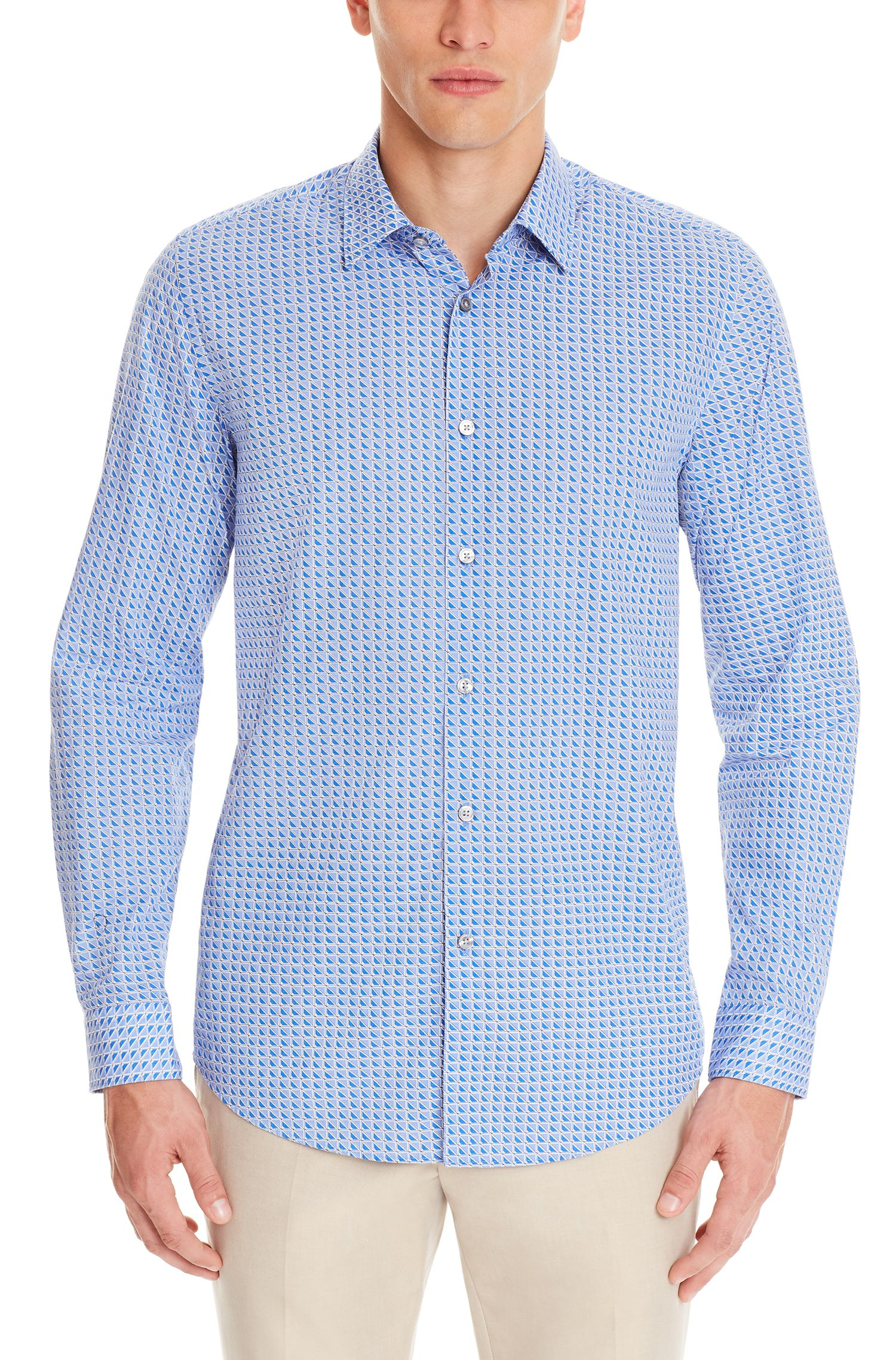 Cotton Button Down Shirt, Regular FIt | Lukas F