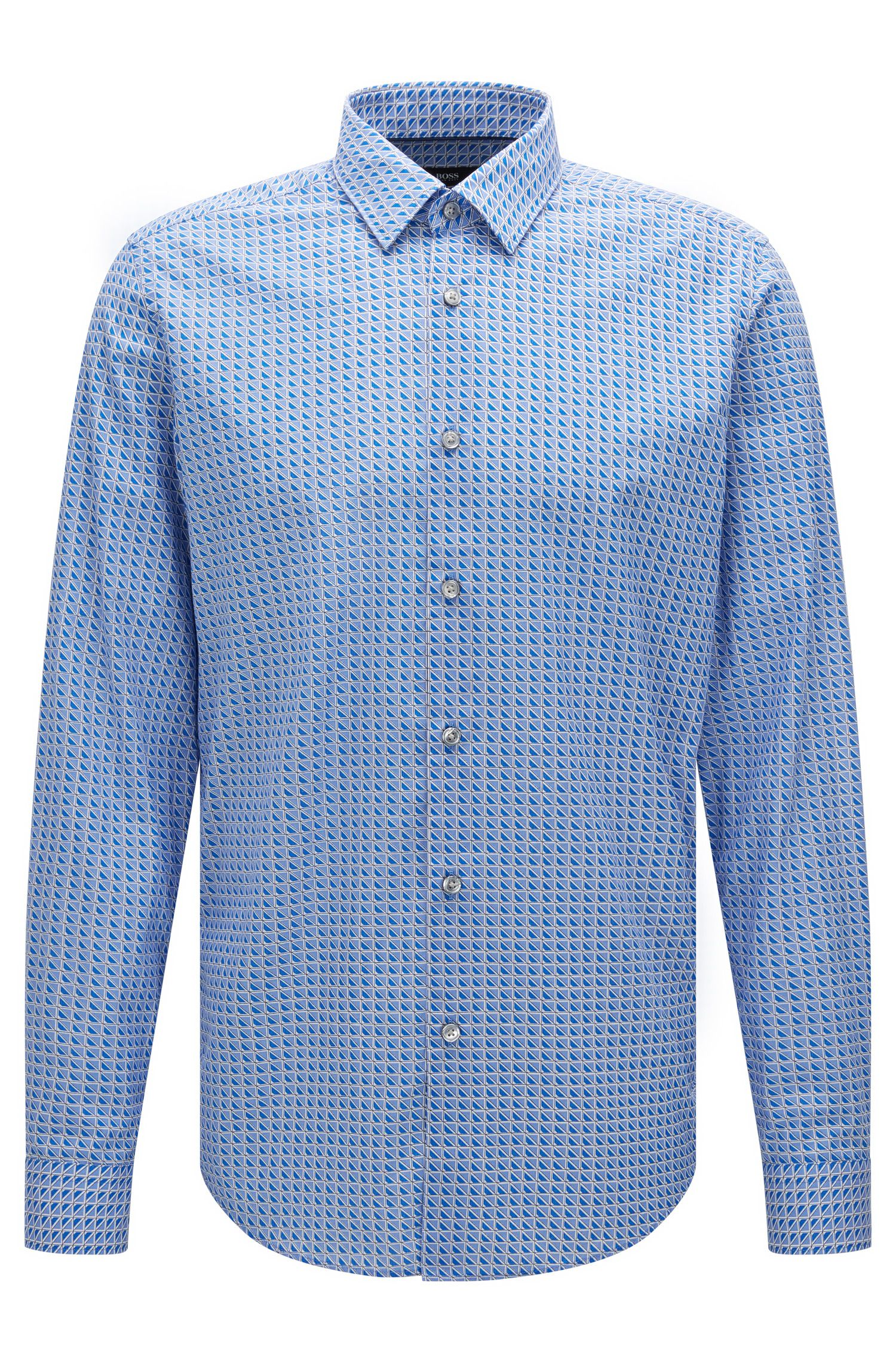 'Lukas F' | Regular Fit, Cotton Button Down Shirt