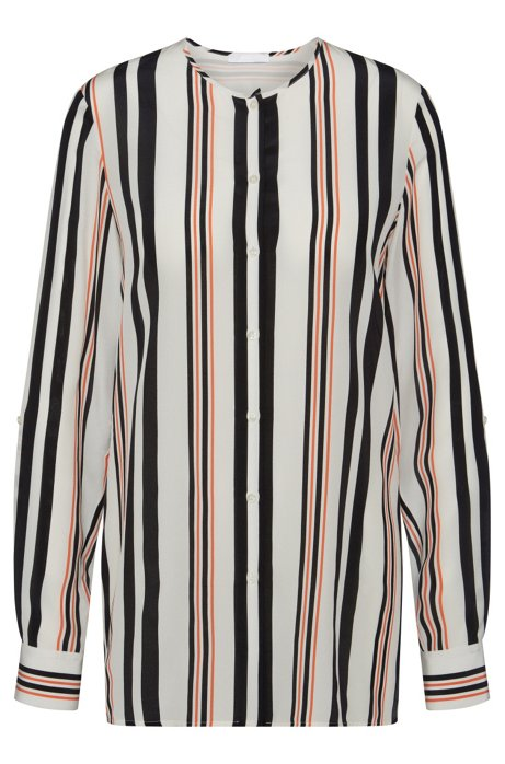 a4326cfc8f9b1 BOSS - Striped Silk Blouse
