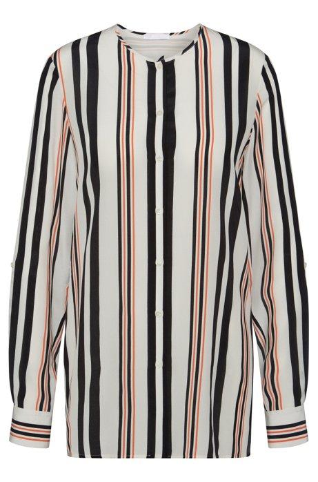 3f66b6c245b30e BOSS - Striped Silk Blouse