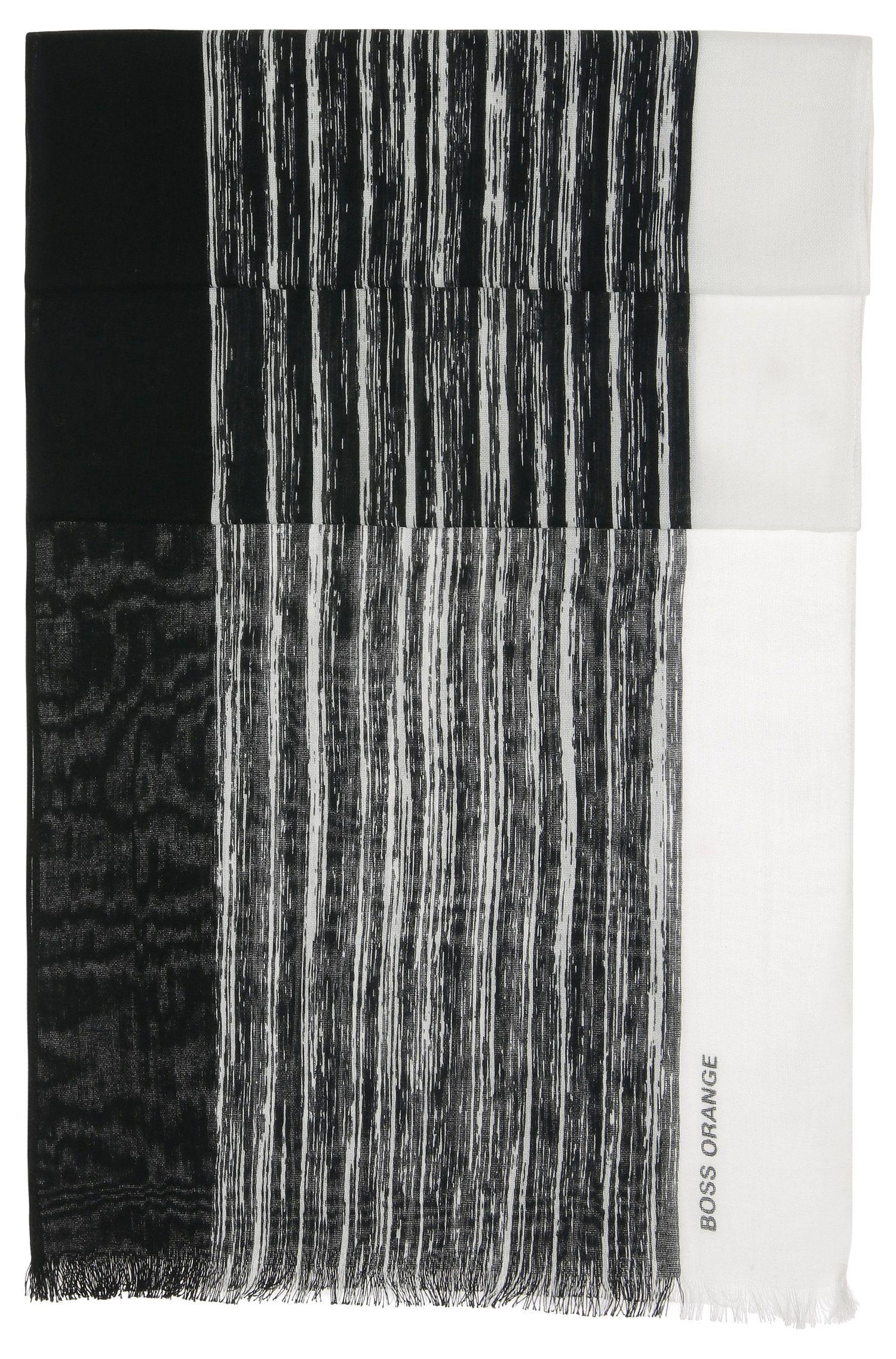 'Nabril'   Cotton Broken Stripe Scarf