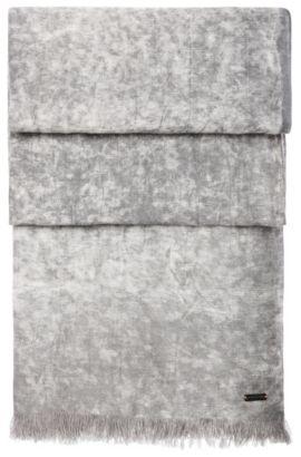 'Nuran' | Cotton Linen Woven Scarf, Dark Blue
