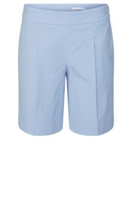 'Tylena' | Relaxed Fit, Metelasse Cotton Blend Short, Patterned