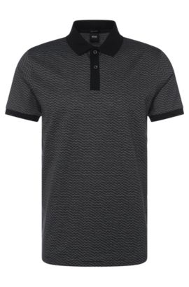 'Parlay' | Regular Fit, Cotton Polo, Black