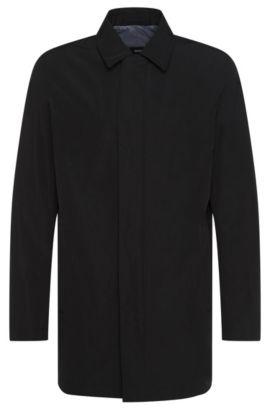 Wind Resistant & Water Repellent Cotton Blend Car Coat | Crewo, Black