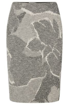 Jacquard Cotton Blend Floral Boucle Skirt | Marala, Patterned