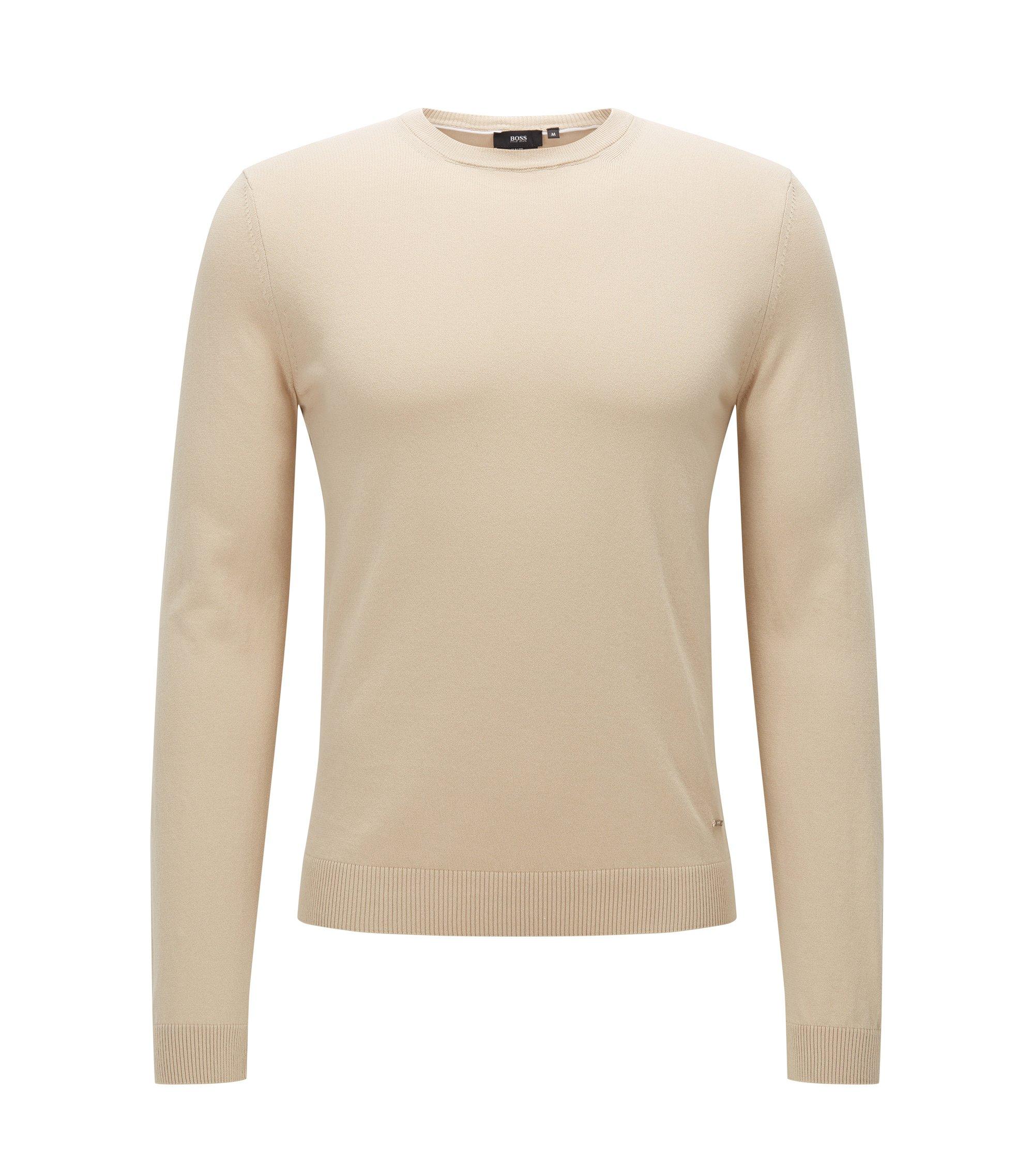 'Fabello O' | Cotton Sweater, Light Beige