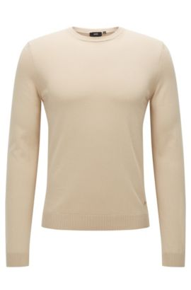 'Fabello O' | Cotton Sweater, Light Beige