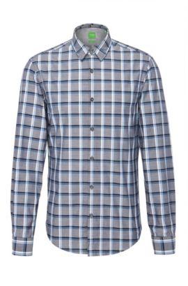 'C Bustai' | Modern Fit, Cotton Button Down Shirt, Dark Blue