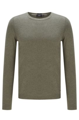 'Onario' | Cotton Silk Cashmere Sweater, Dark Green
