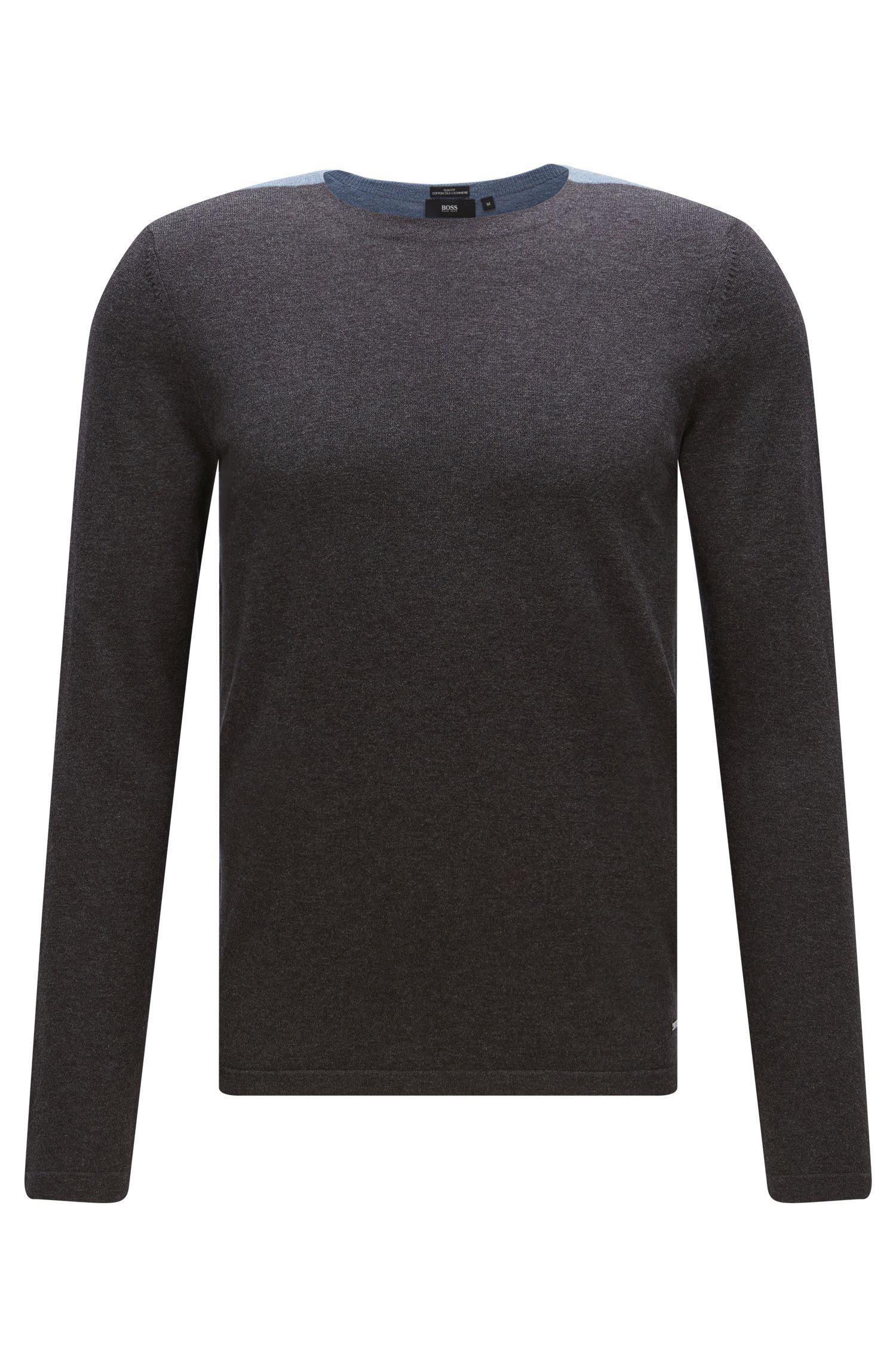 'Onzo' | Cotton Silk Cashmere Colorblocked Sweater