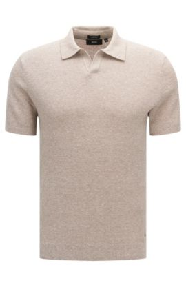 Cotton Linen Sweater, Slim Fit | Orenzo, Open Beige