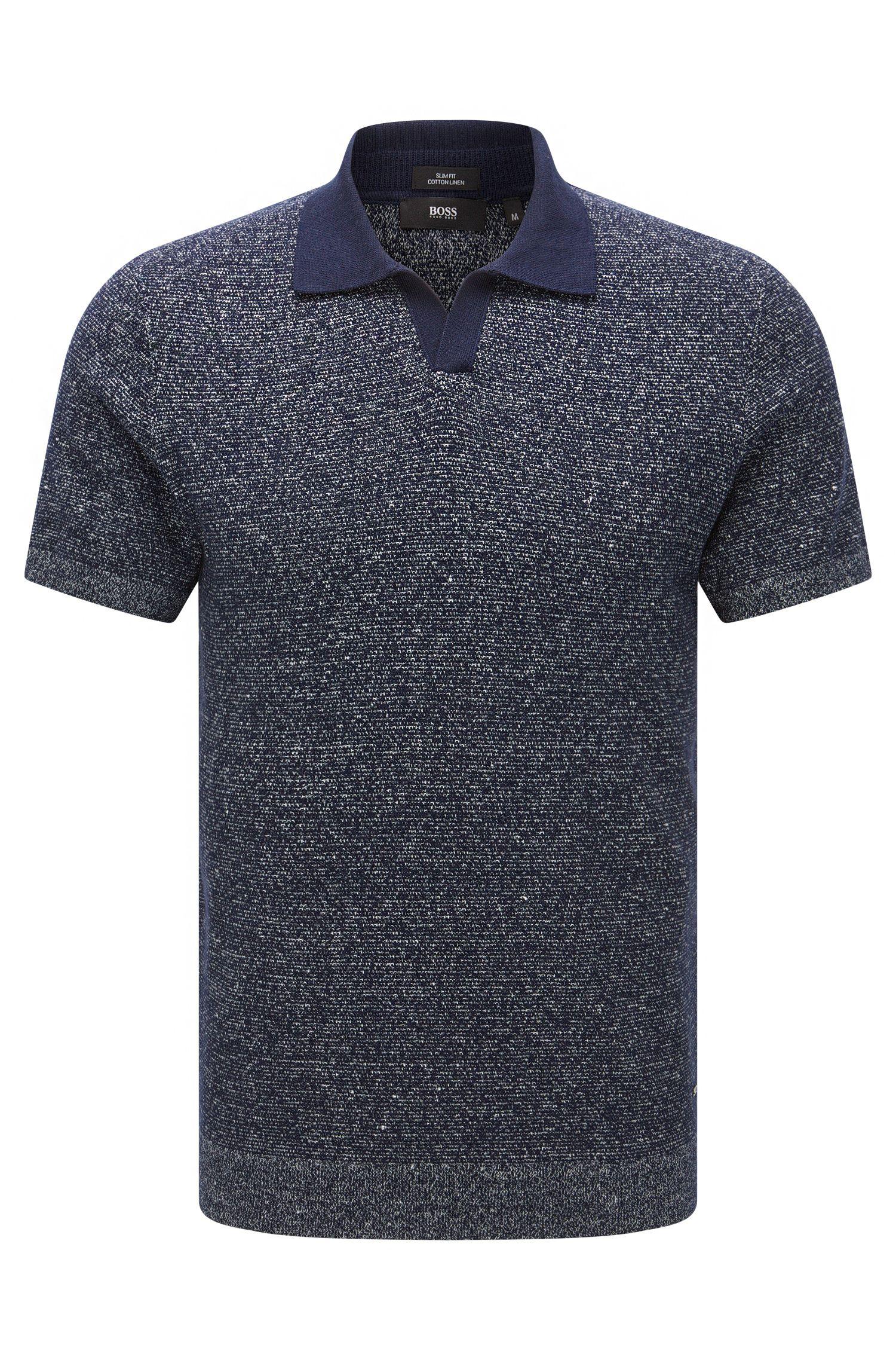Cotton Linen Sweater, Slim Fit | Orenzo