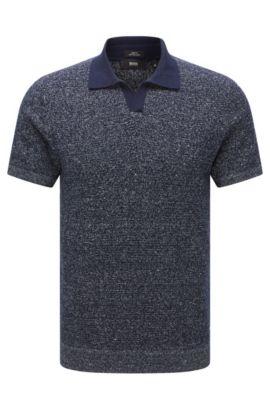 Cotton Linen Sweater, Slim Fit | Orenzo, Dark Blue