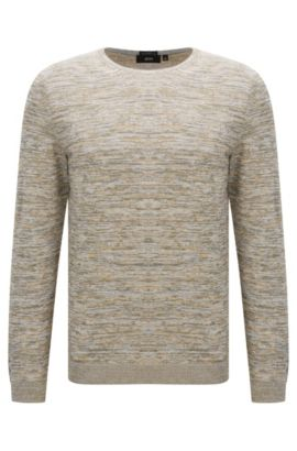 'Fines-O' | Italian Cotton Sweater, Open Beige