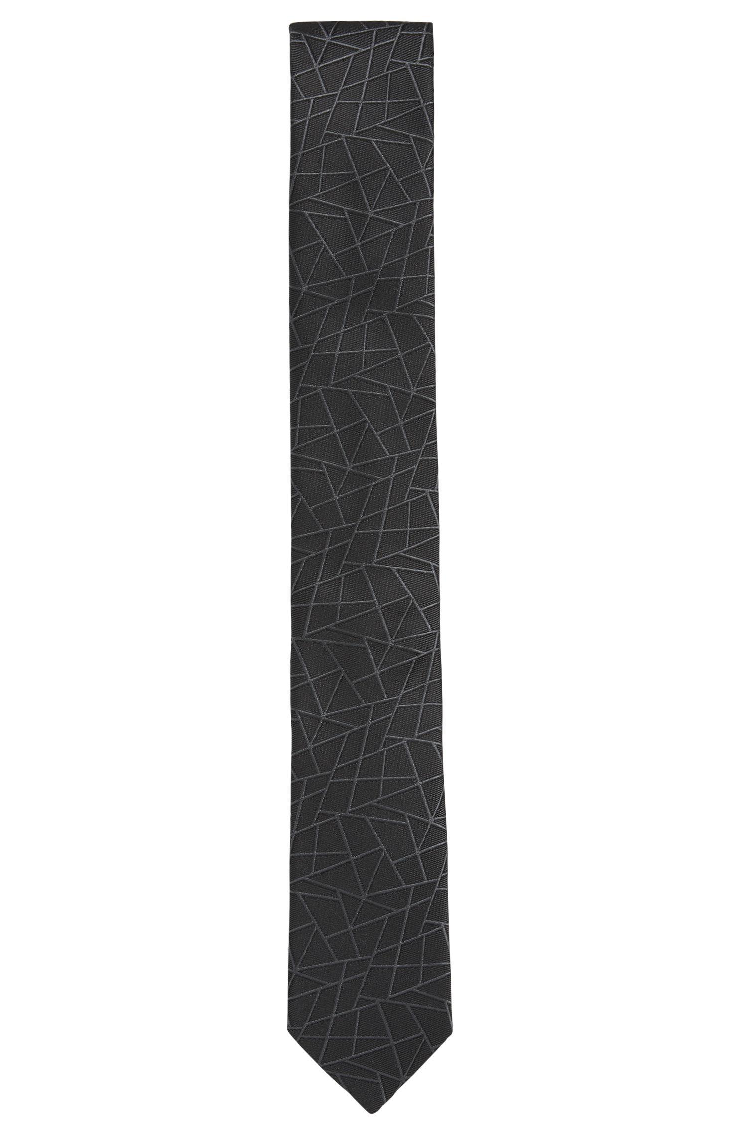 Embroidered Italian Silk Tie, Slim | Tie 6 cm