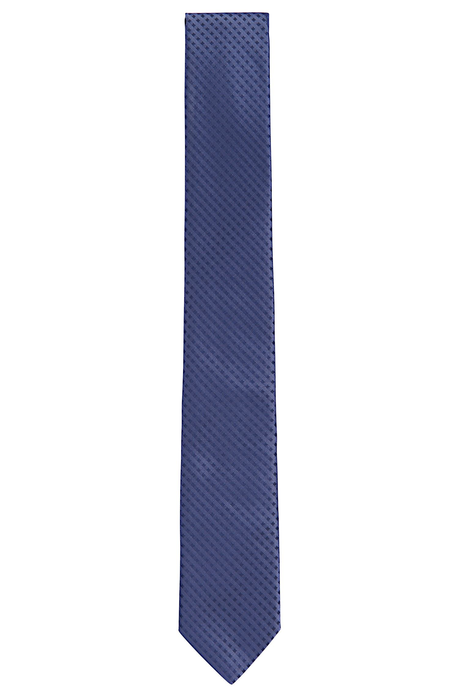 Diamond Embroidered Silk Tie, Slim | Tie 6 cm