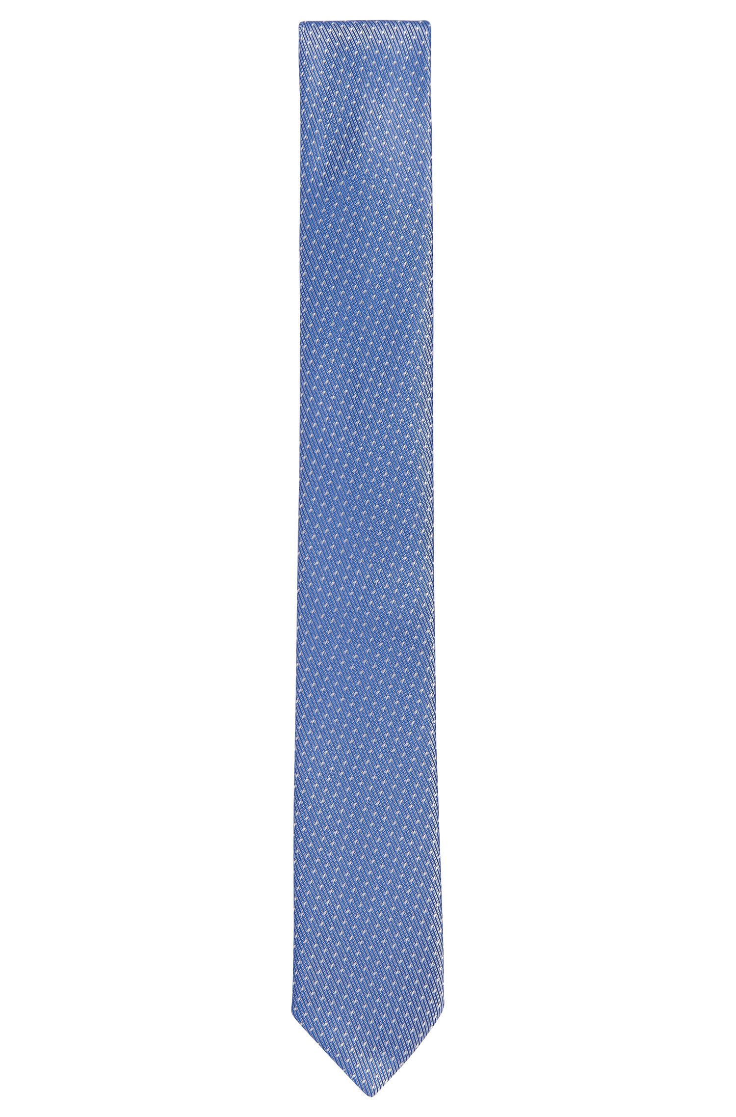 Embroidered Silk Tie, Slim | Tie 6 cm