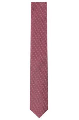 'Tie 6 cm' | Slim, Silk Embroidered Tie, Pink