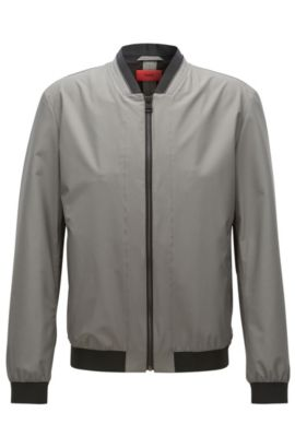 Woven Bomber Jacket | Bestan, Dark Grey