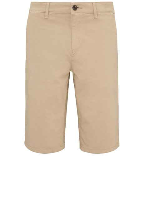 dee56f4a BOSS - Stretch Cotton Short, Slim Fit | Schino Slim Shorts D