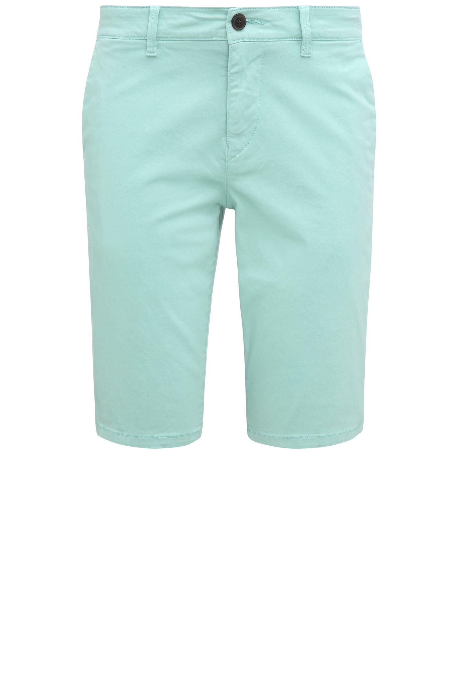 'Schino Slim Shorts D' | Slim Fit, Stretch Cotton Shorts