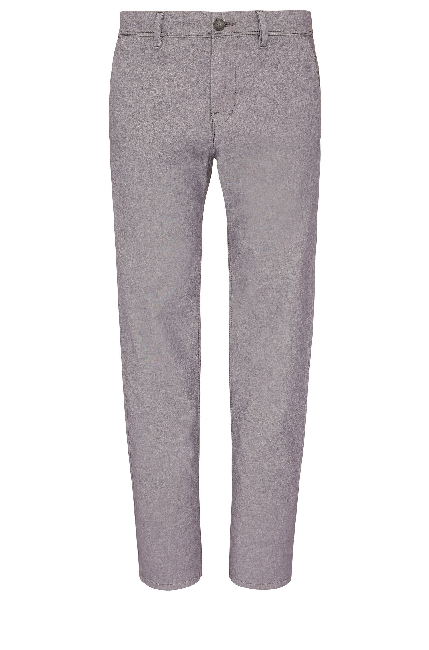 'Stapered W' | Tapered Fit, Stretch Cotton Trousers