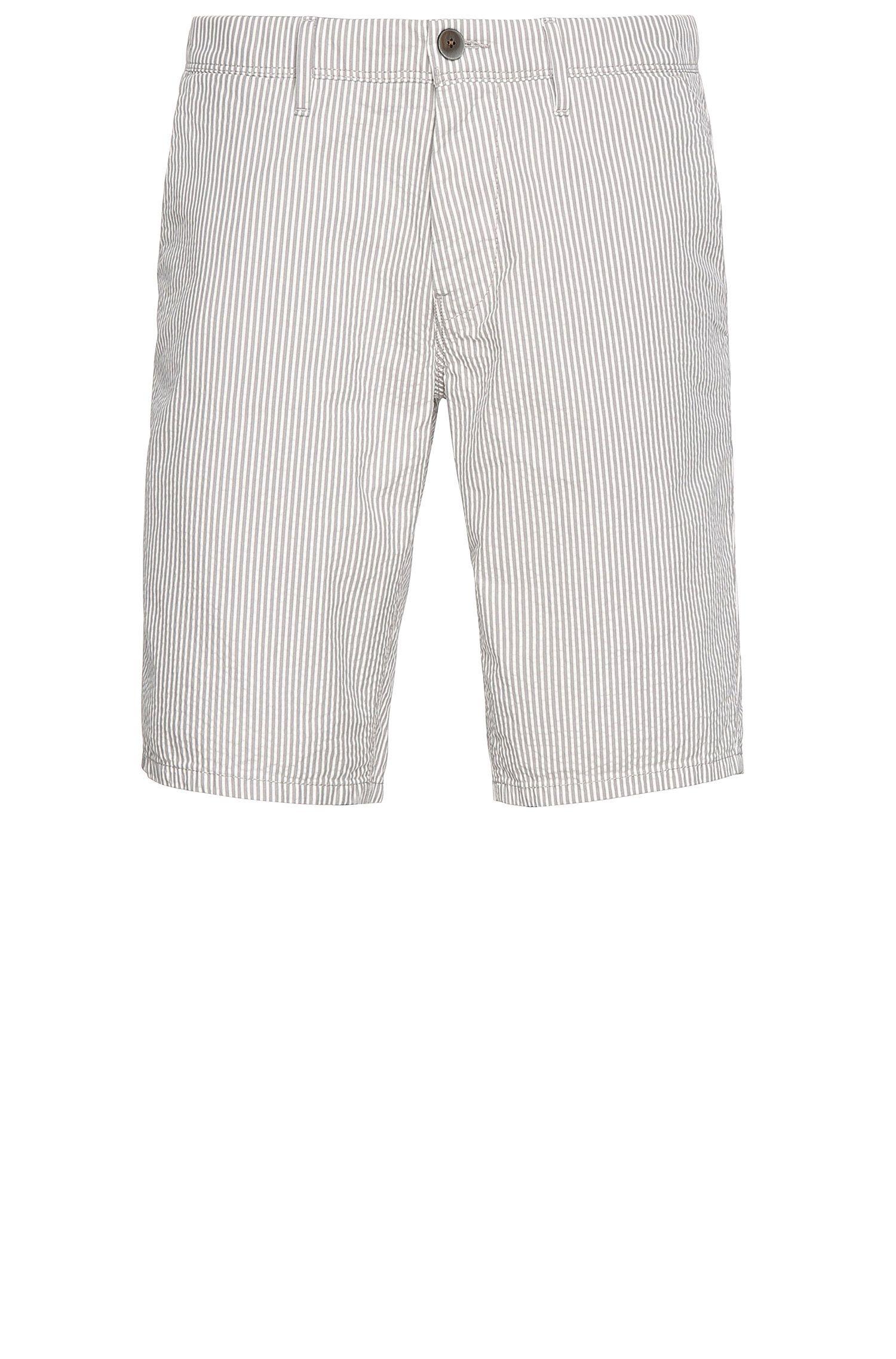 Seersucker Cotton Short, Slim Fit | Slender Shorts W