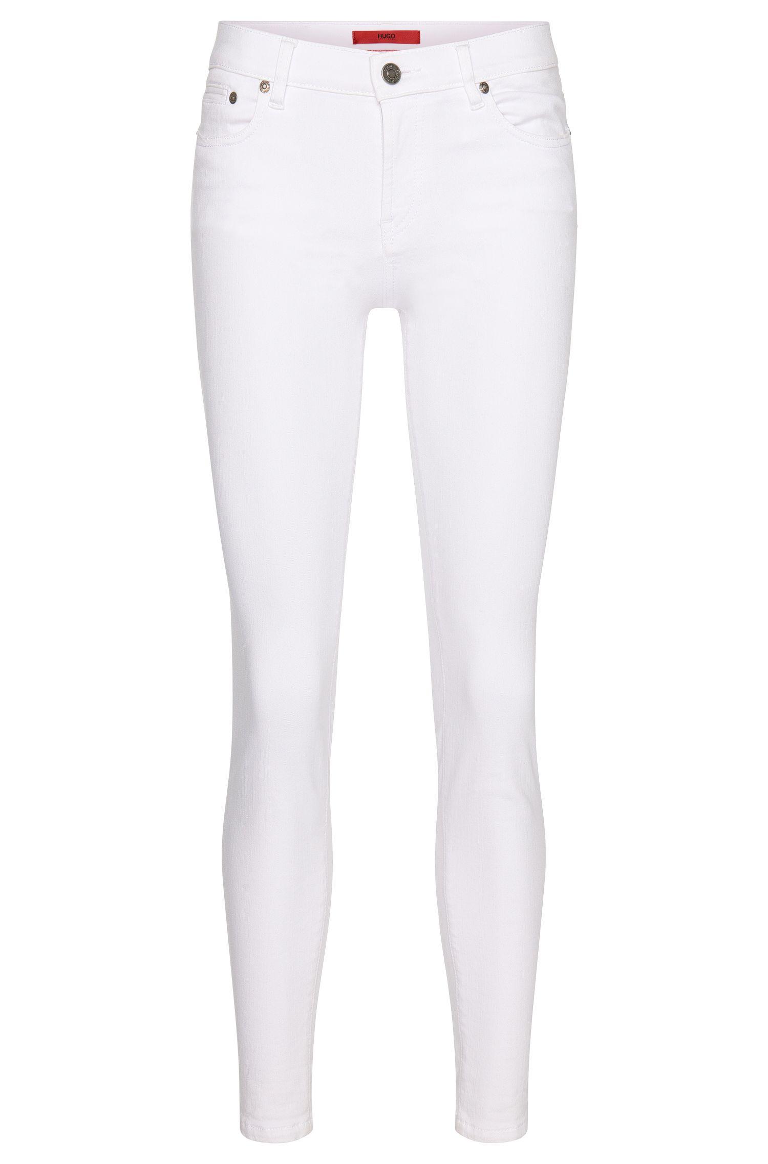 Stretch Cotton Blend Zipper Jean | Gilljana