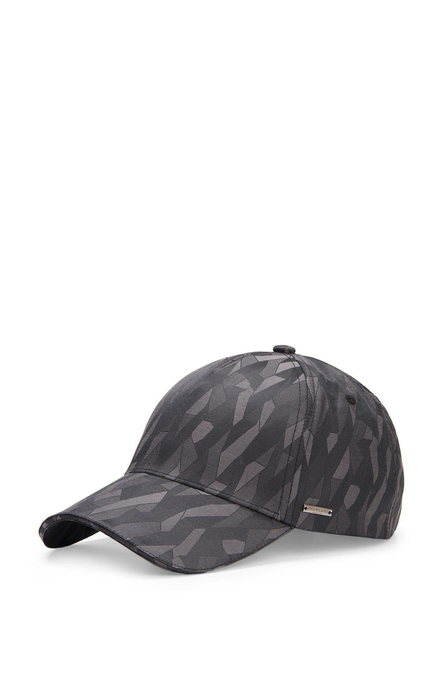 Cotton Blend Patterned Baseball Cap | Secamo