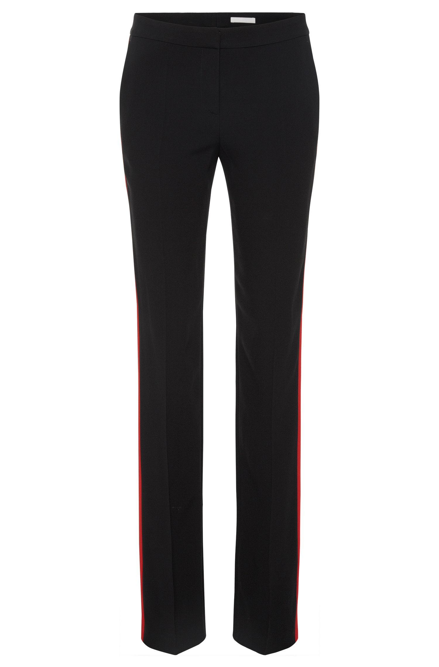 'Tatila'   Crepe Satin Racing Stripe Dress Pants