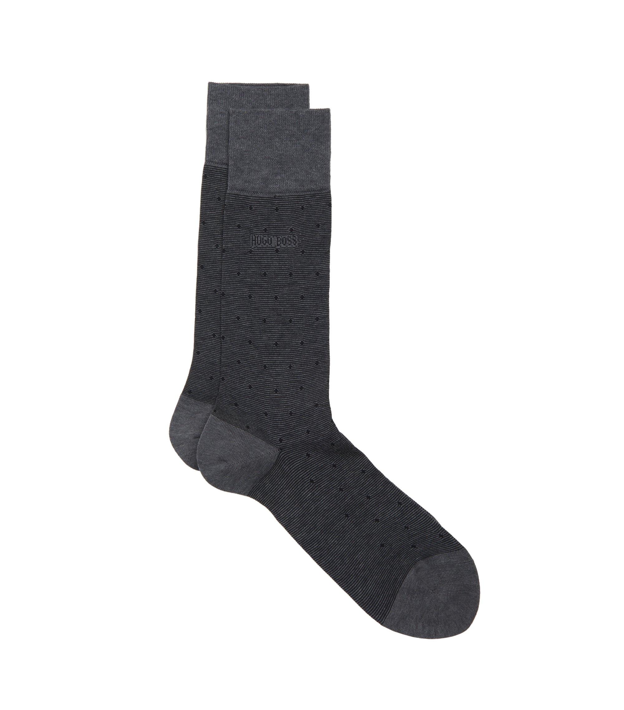 Stretch Cotton Blend Sock | Paul Design Dots US, Black