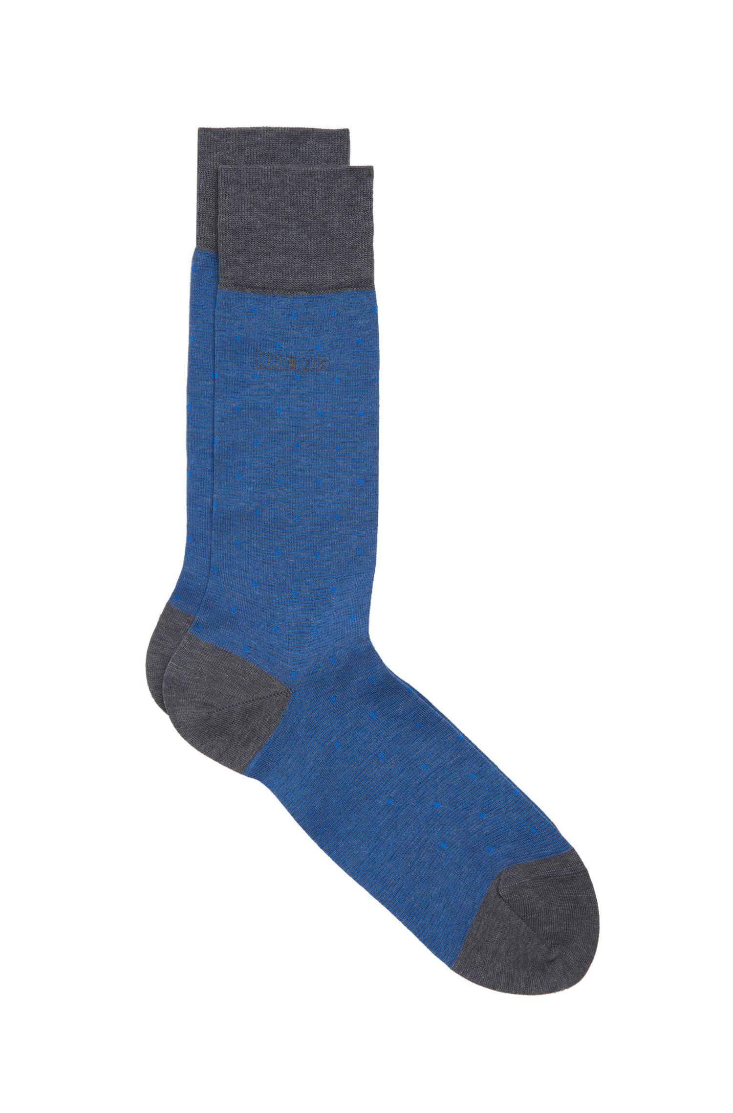 Stretch Cotton Blend Sock   Paul Design Dots US