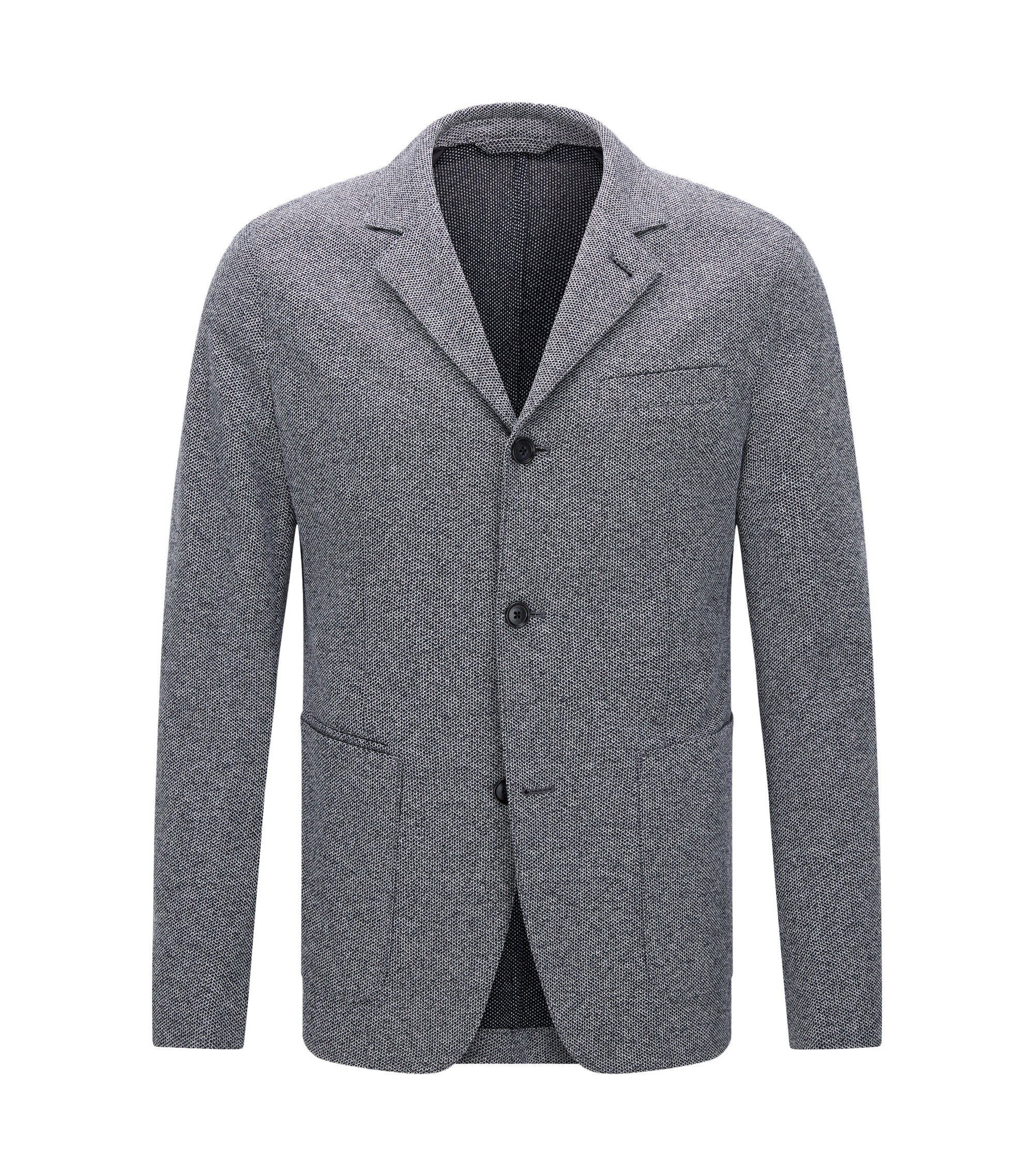 Italian Cotton Jersey Sport Coat, Slim Fit | T-Nedd, Dark Blue