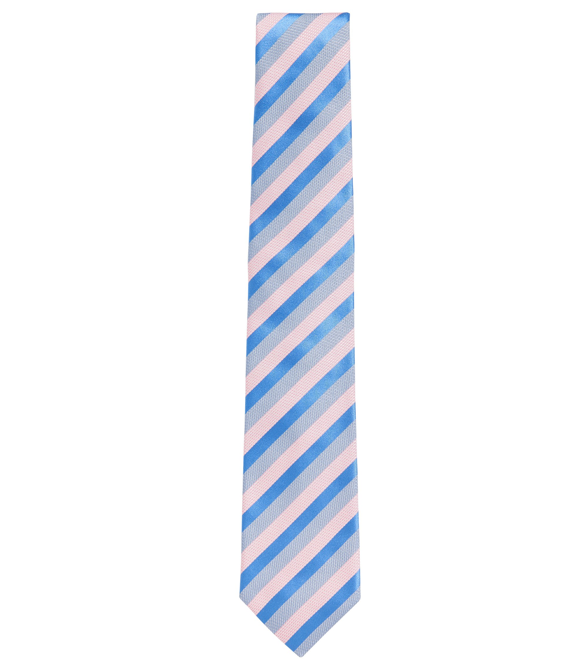 Patterned Silk Tie, Blue