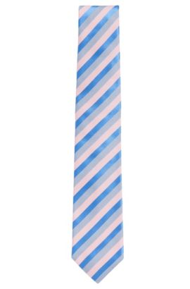 Patterned Silk Tie, Blue