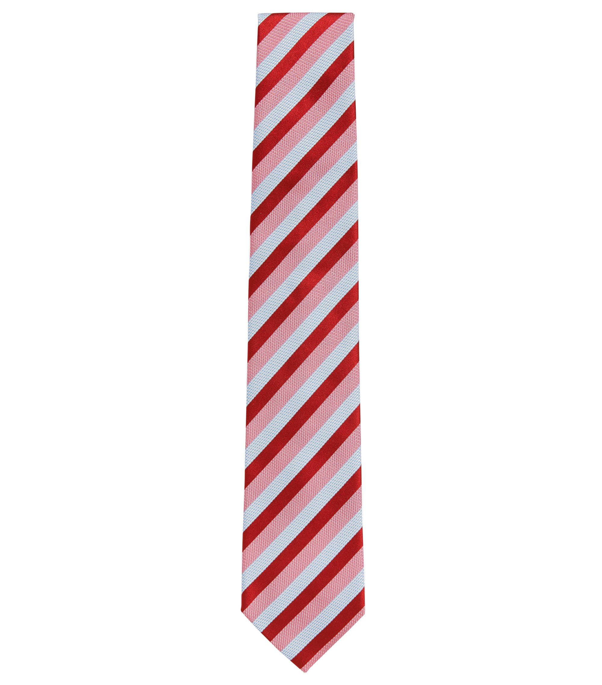 Patterned Silk Tie, Red