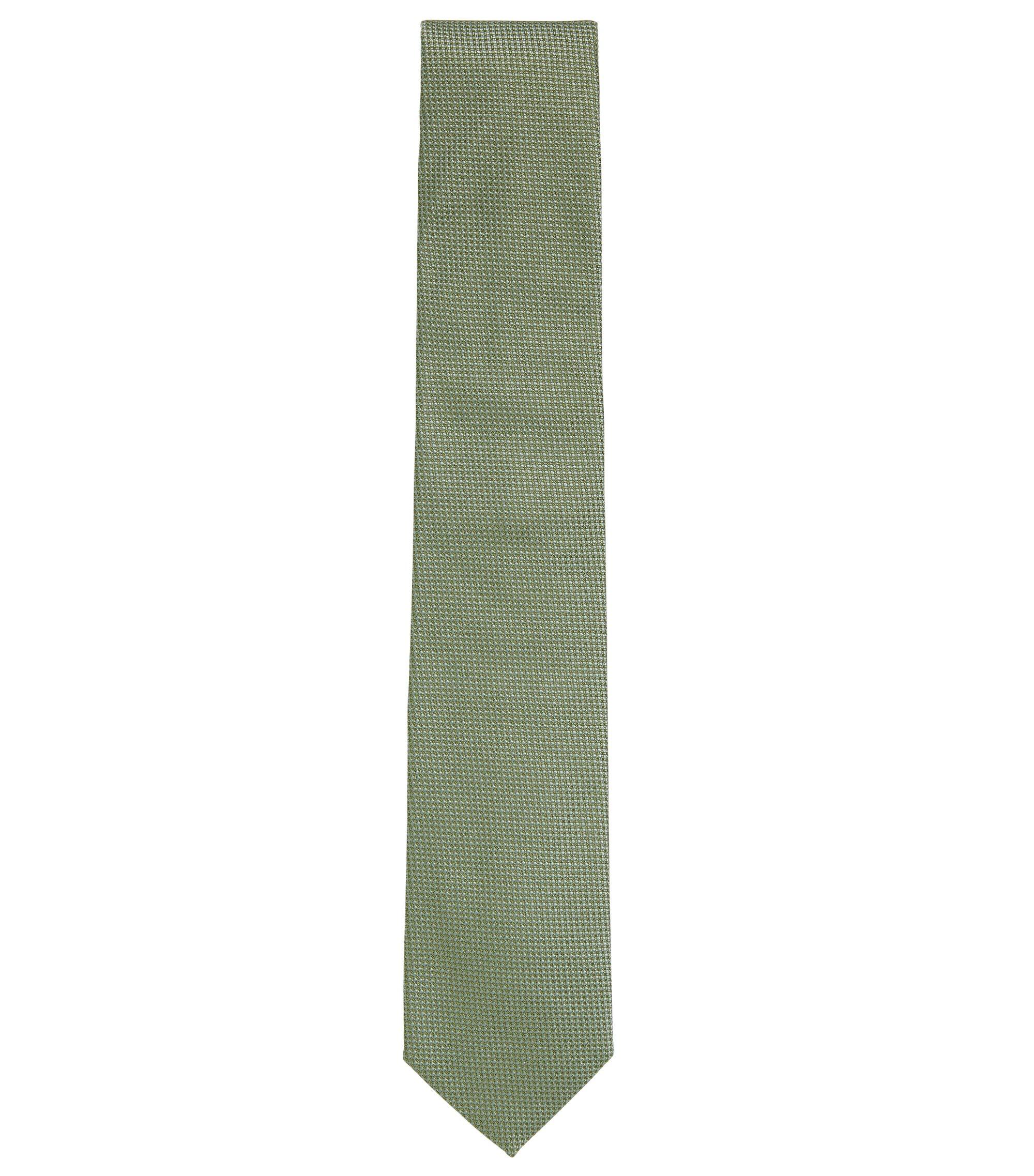 Embroidered Silk Tie, Regular | Tie 7.5 cm, Light Green