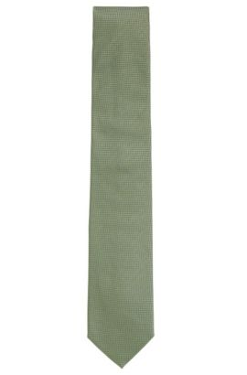'Tie 7.5 cm' | Regular, Silk Patterned Tie, Light Green