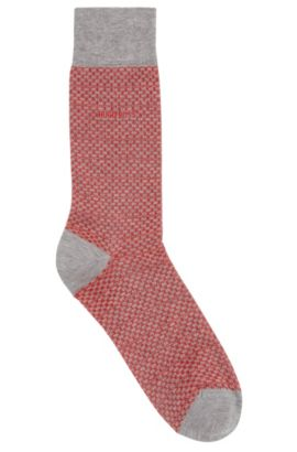 'RS Design US' | Polka-Dot Stretch Cotton Socks, Silver
