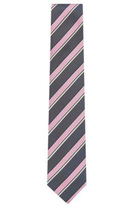 'Tie 7.5 cm' | Regular, Silk Patterned Tie, light pink