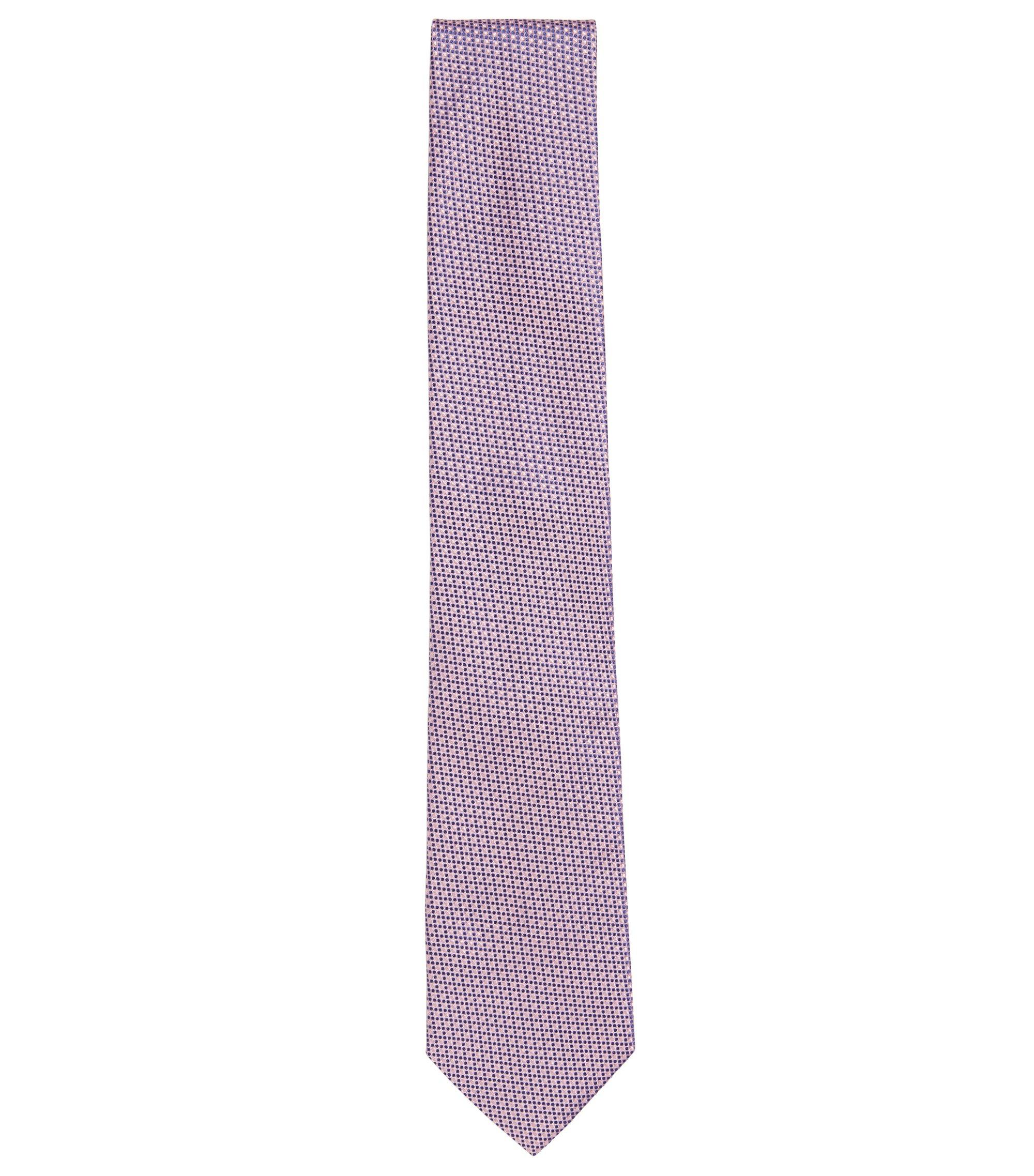 Patterned Italian Silk Tie, Light Purple