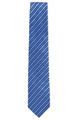 'Tie 7.5 cm' | Regular, Silk Patterned Tie, Blue