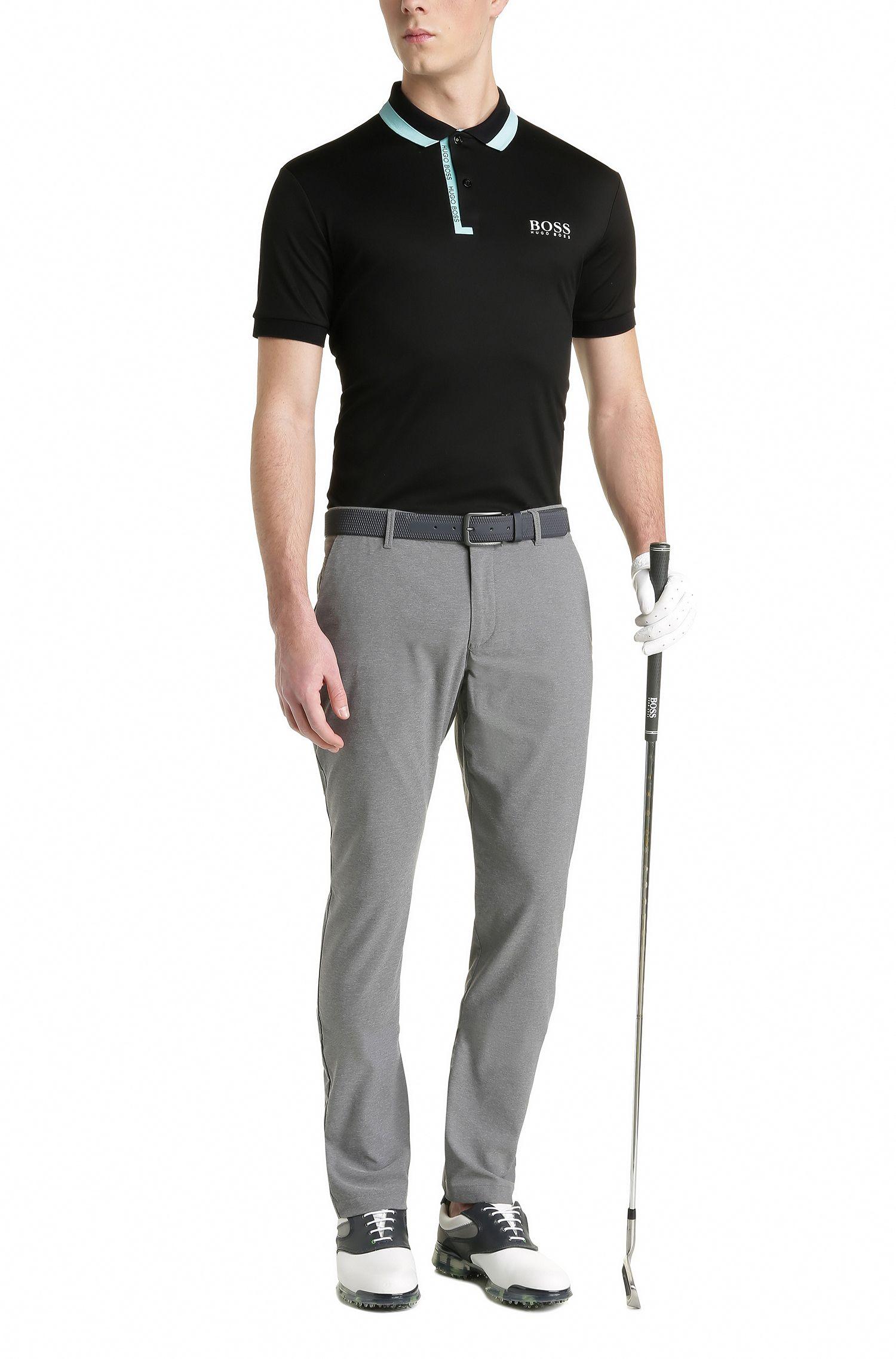 Stretch Logo Polo Shirt, Regular Fit | Paddy Pro