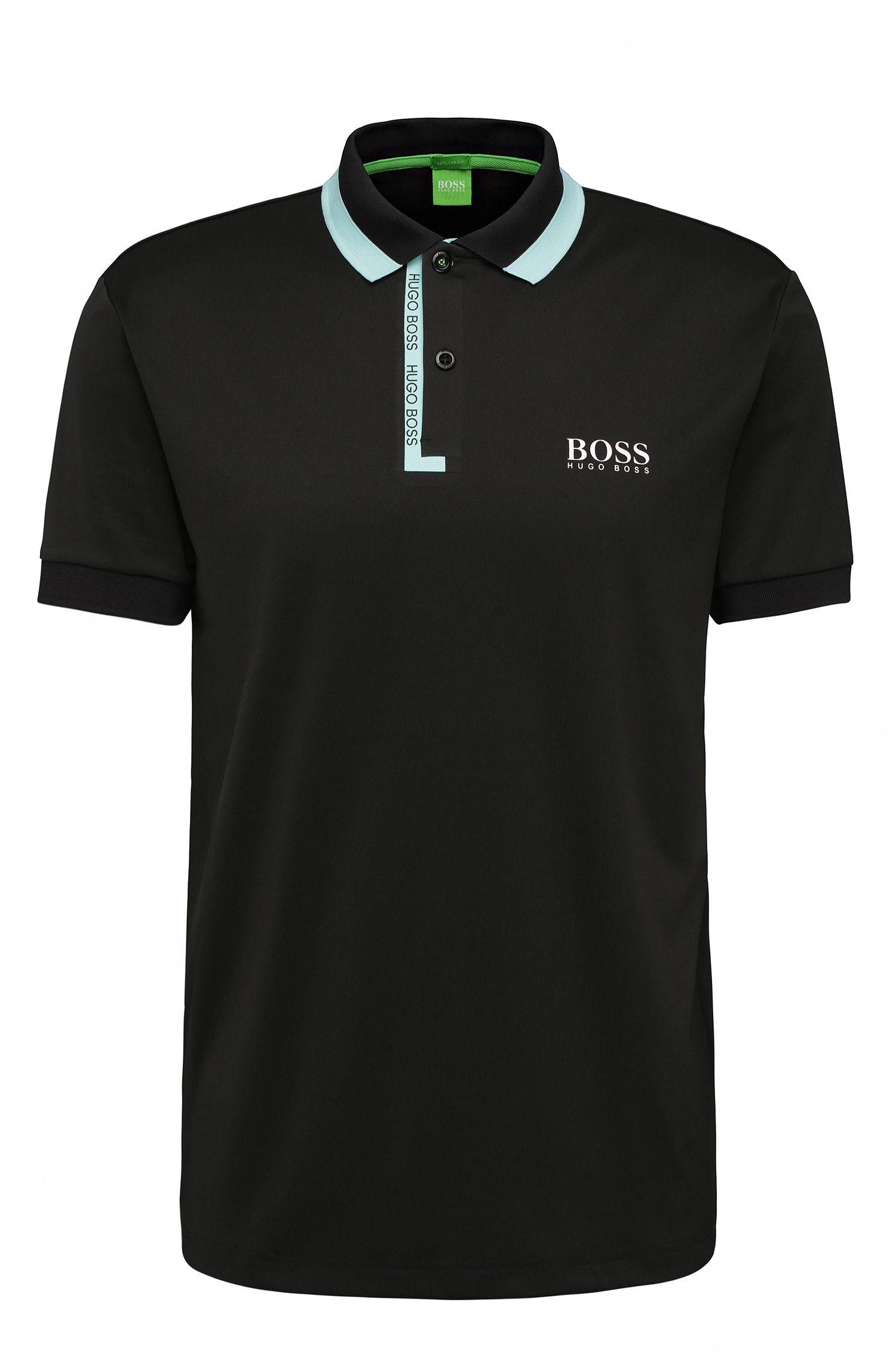 Stretch Logo Polo Shirt, Regular Fit   Paddy Pro