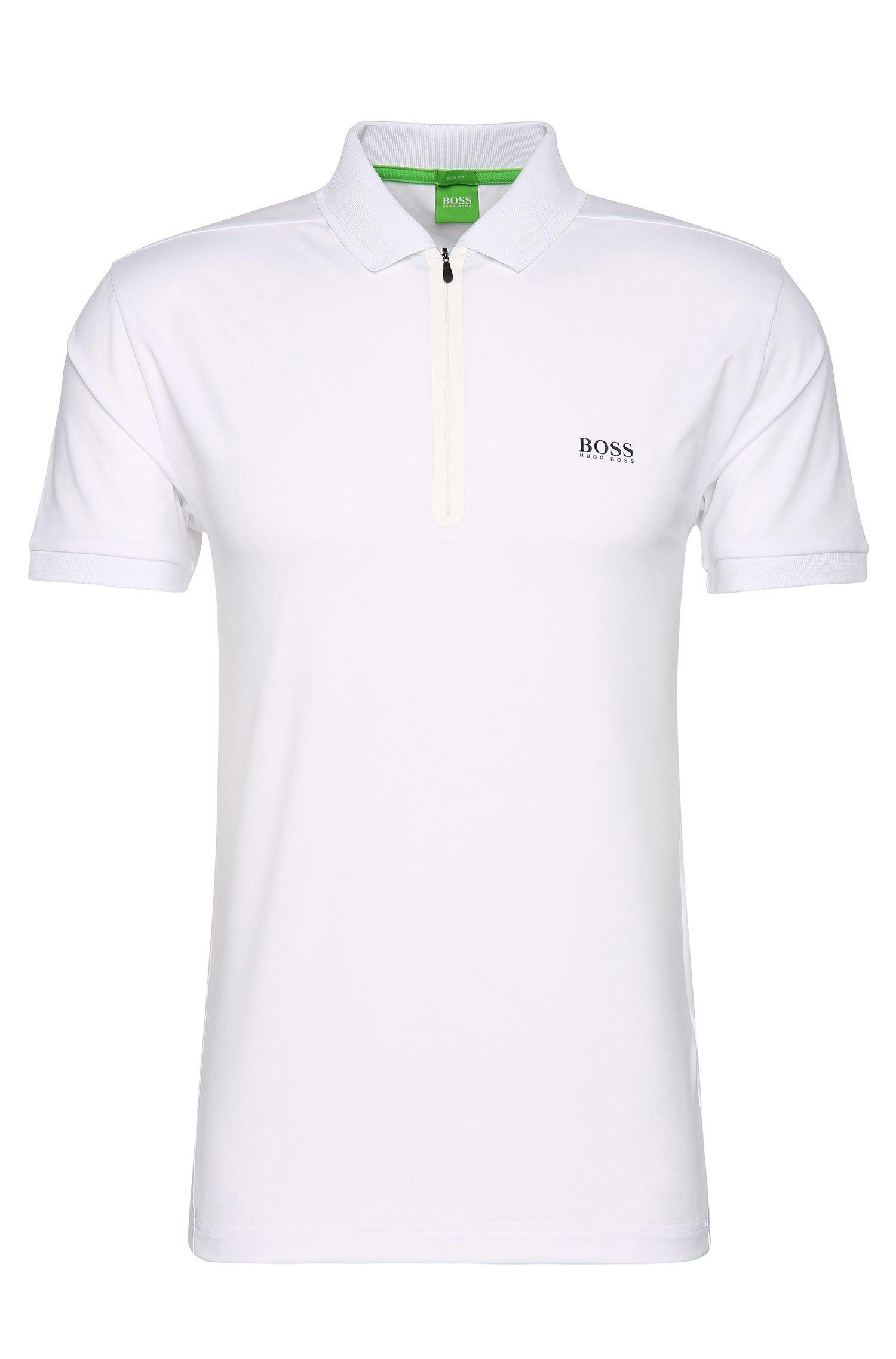 Stretch Techno Jersey Polo Shirt, Slim Fit   Pavotech