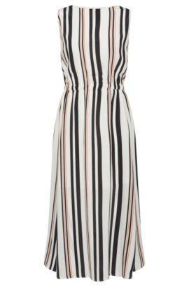 Silk A-Line Striped Dress | Hemsy, Patterned