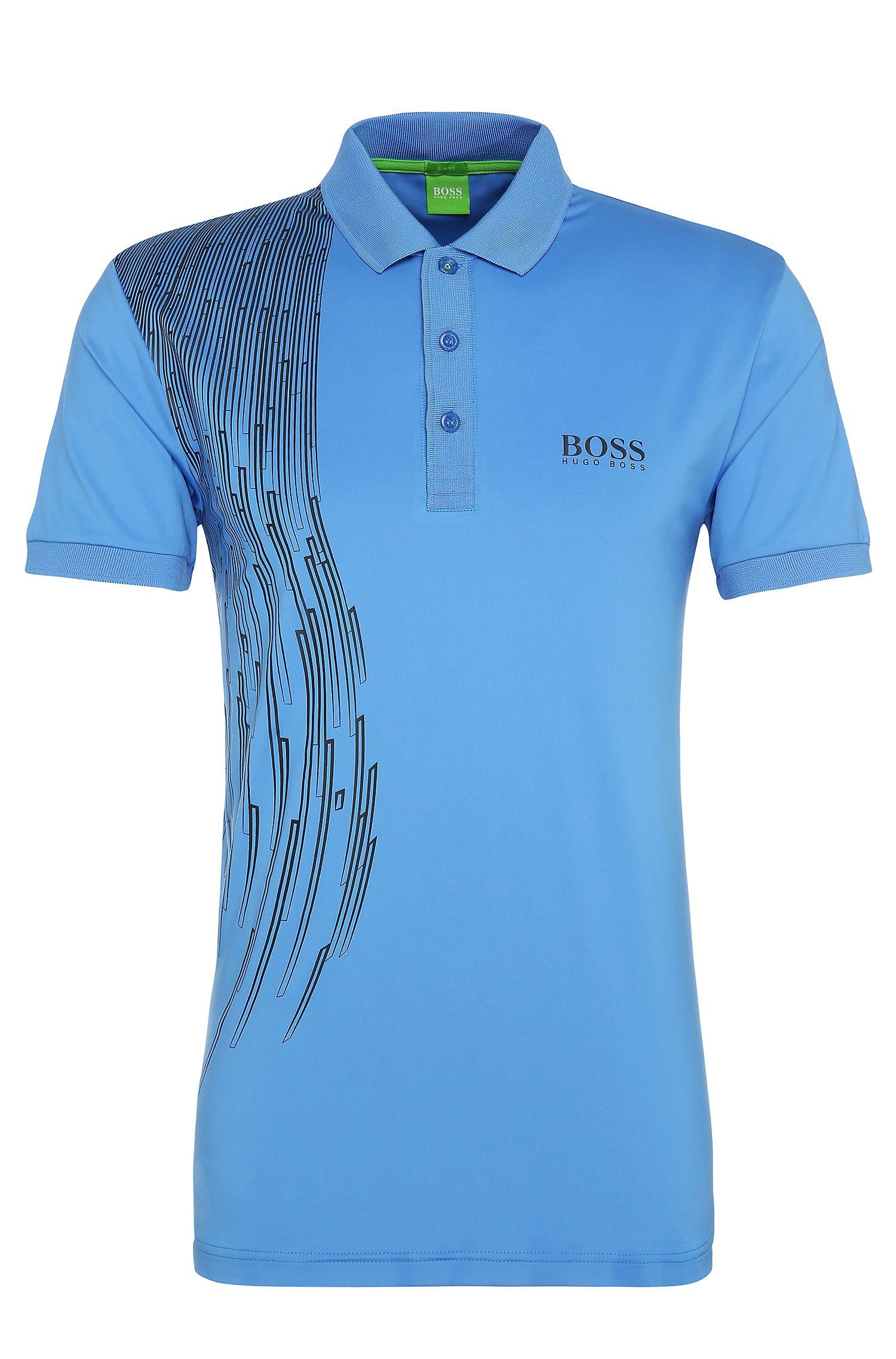 'Paule Pro 3' | Slim Fit, Printed Polo Shirt
