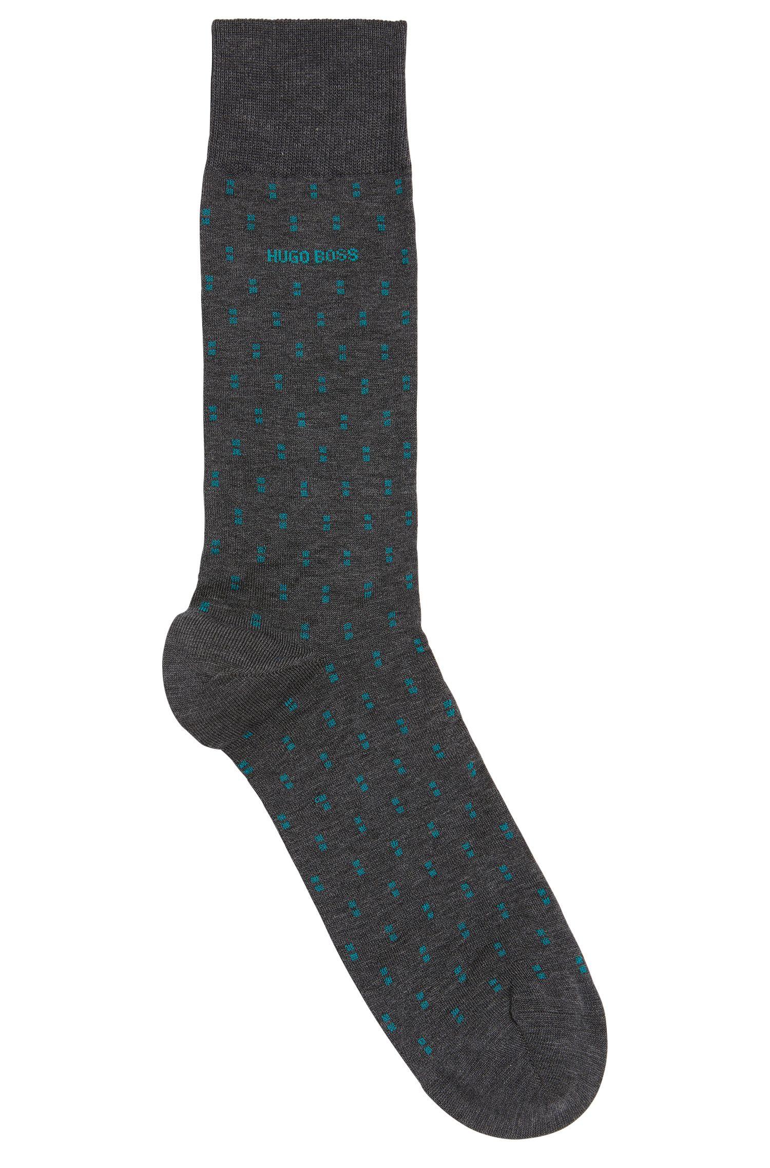 Dash Pattern Stretch Cotton Blend Sock | RS Design US