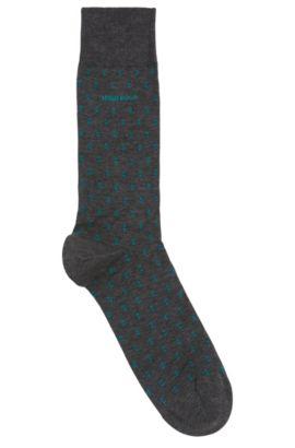 Dash Pattern Stretch Cotton Blend Sock | RS Design US, Grey